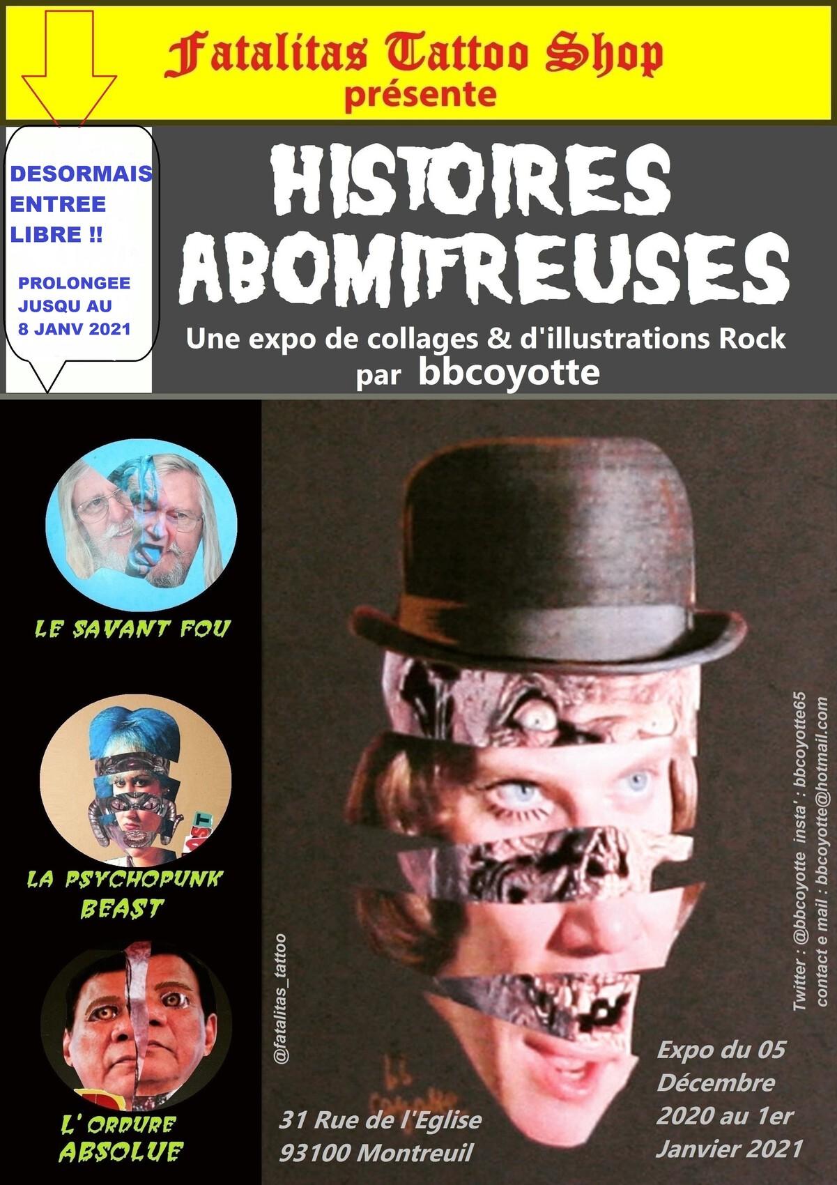 Histoires Abomifreuses / collages expo2020 par bbcoyotte