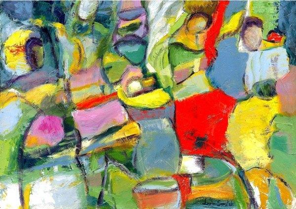 """Instants d'énergie"" - Peintures de Lucja Szostak"
