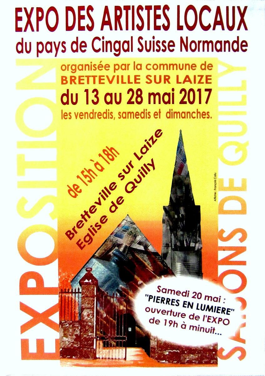 EXPOSITION DES ARTISTES LOCAUX DU PAYS DE CINGAL SUISSE NORMANDE