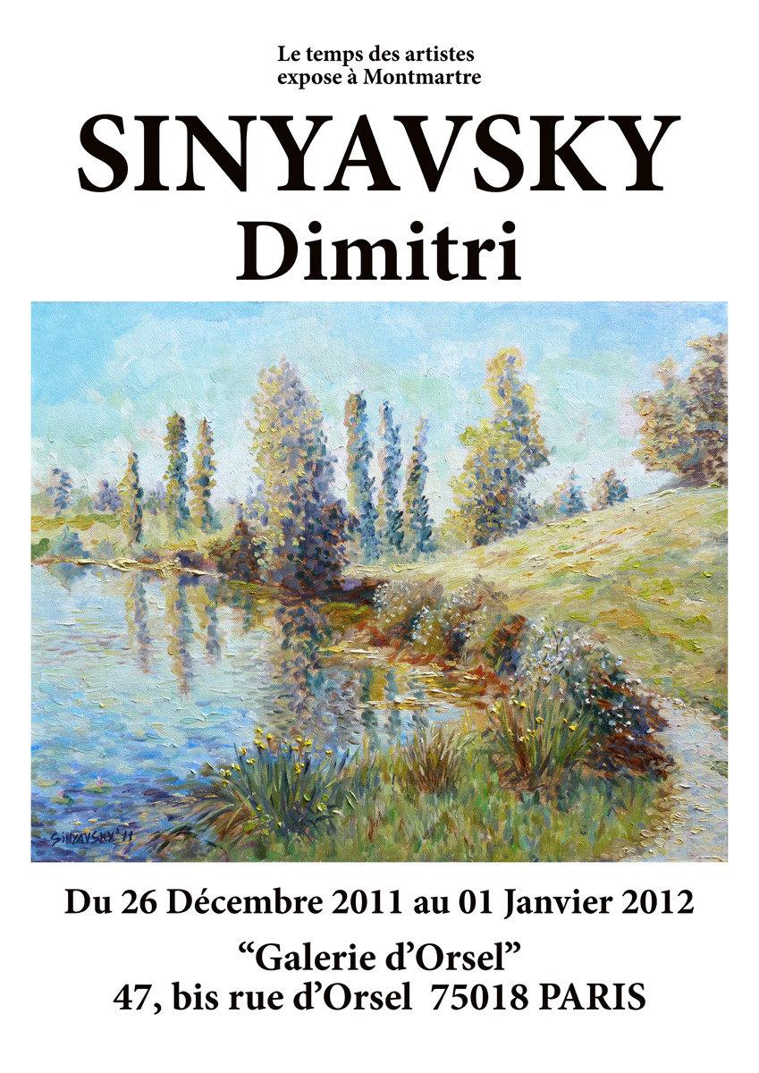 SINYAVSKY Dimitri exposé à Montmartre