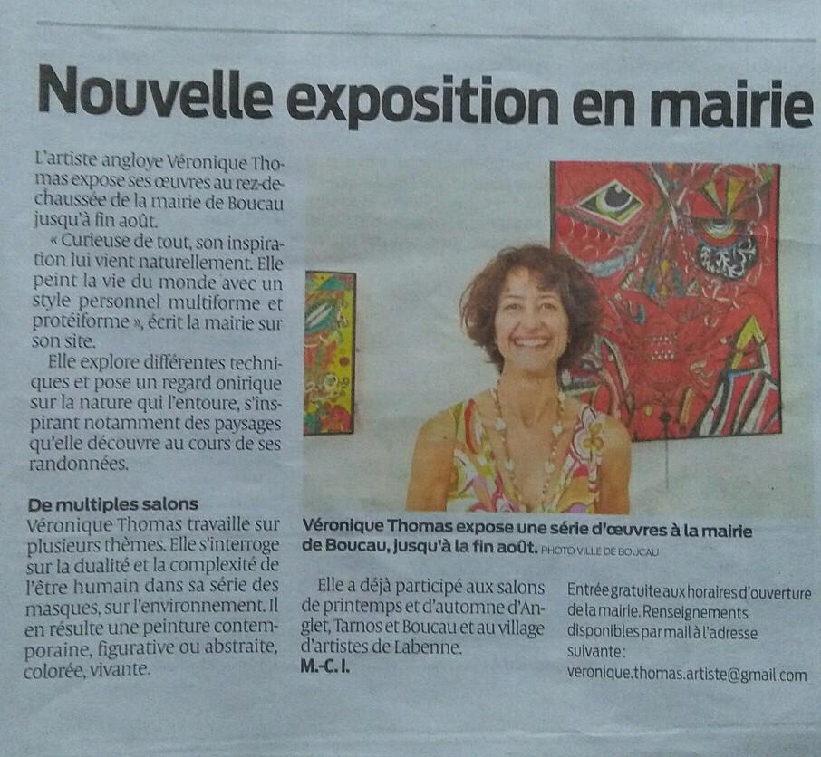 Exposition personnelle jusqu'au 30/08/2019 _ Mairie du Boucau