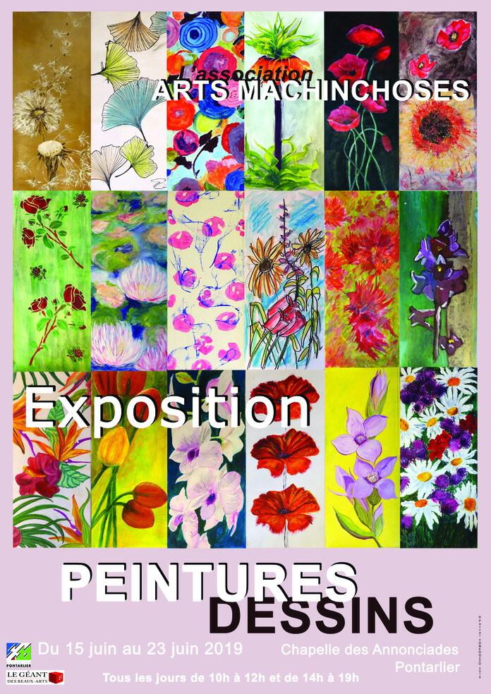 Exposition de peintures et dessins de l'association Arts Machinchoses