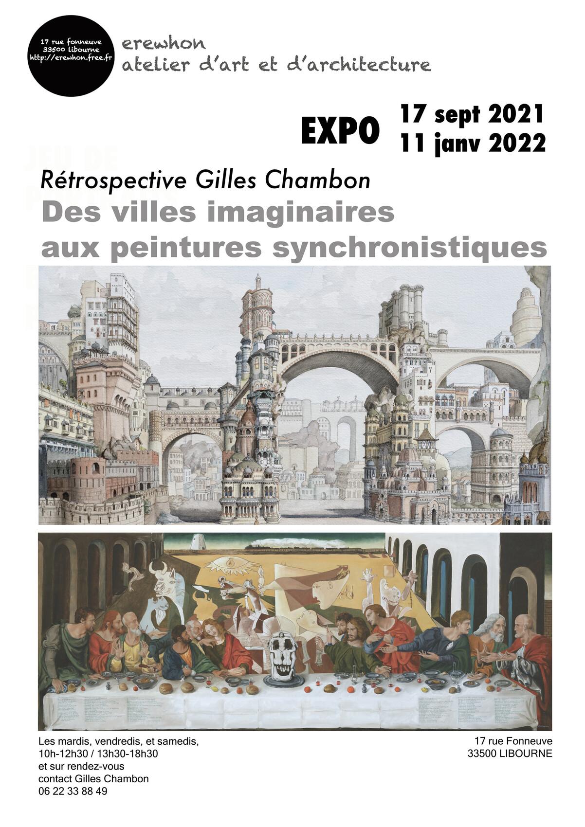 Rétrospective Gilles Chambon : des villes imaginaires aux peintures synchronistiques
