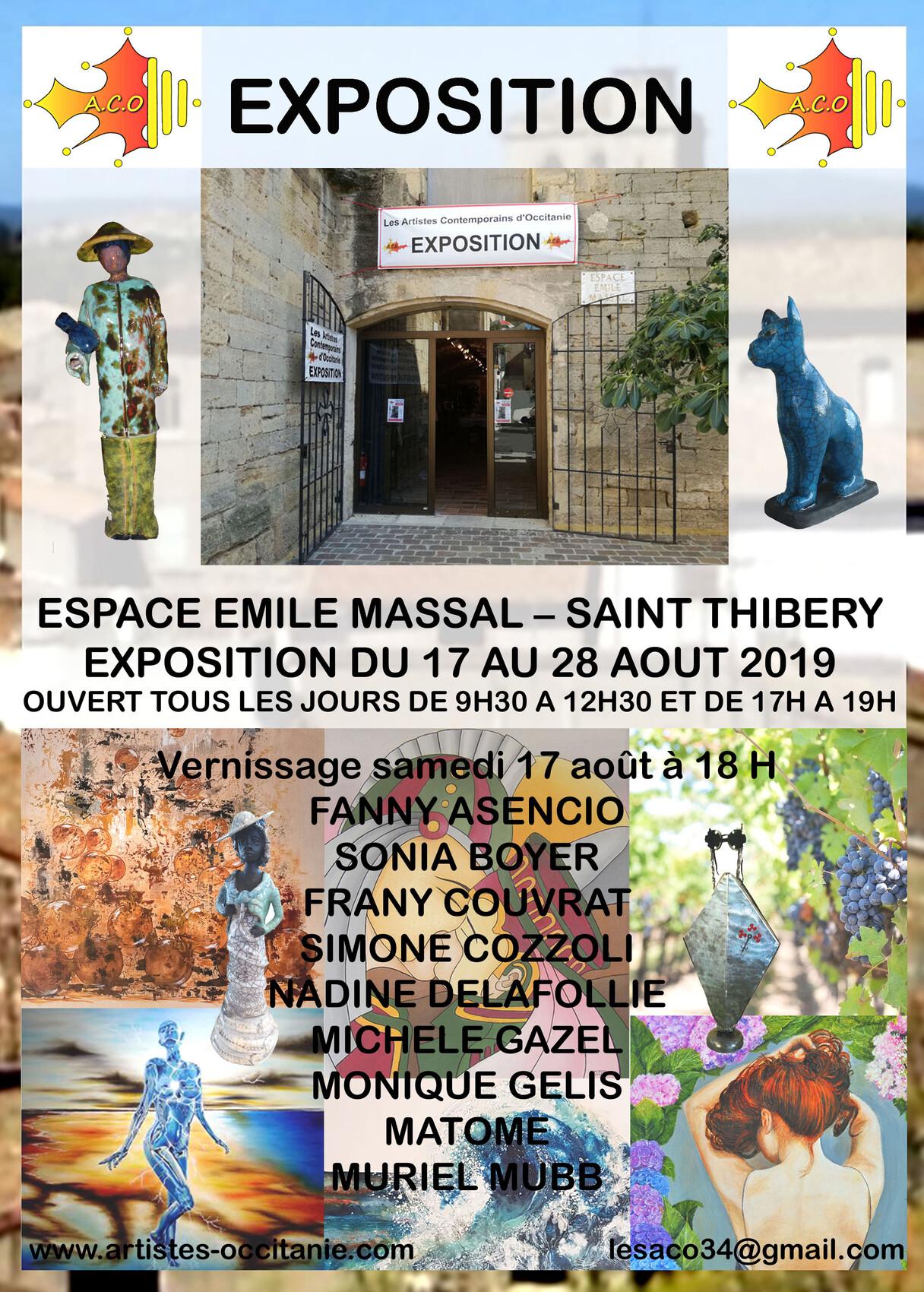 Exposition 5 à l'espace Emile Massal à st Thibéry
