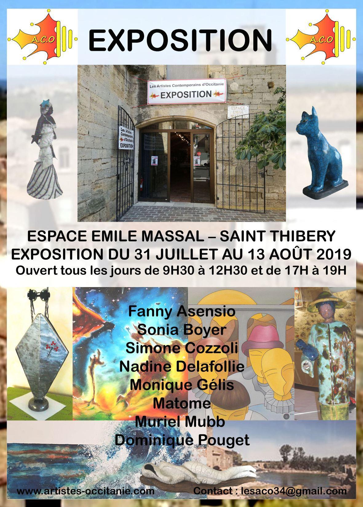 Exposition 4 à l'espace Emile Massal à st Thibéry.