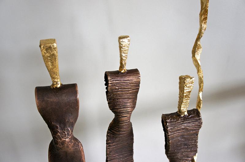 """VanBinh Sculpteur à Galerie """"La Porte d'Amont"""" à  Mirepoix"""