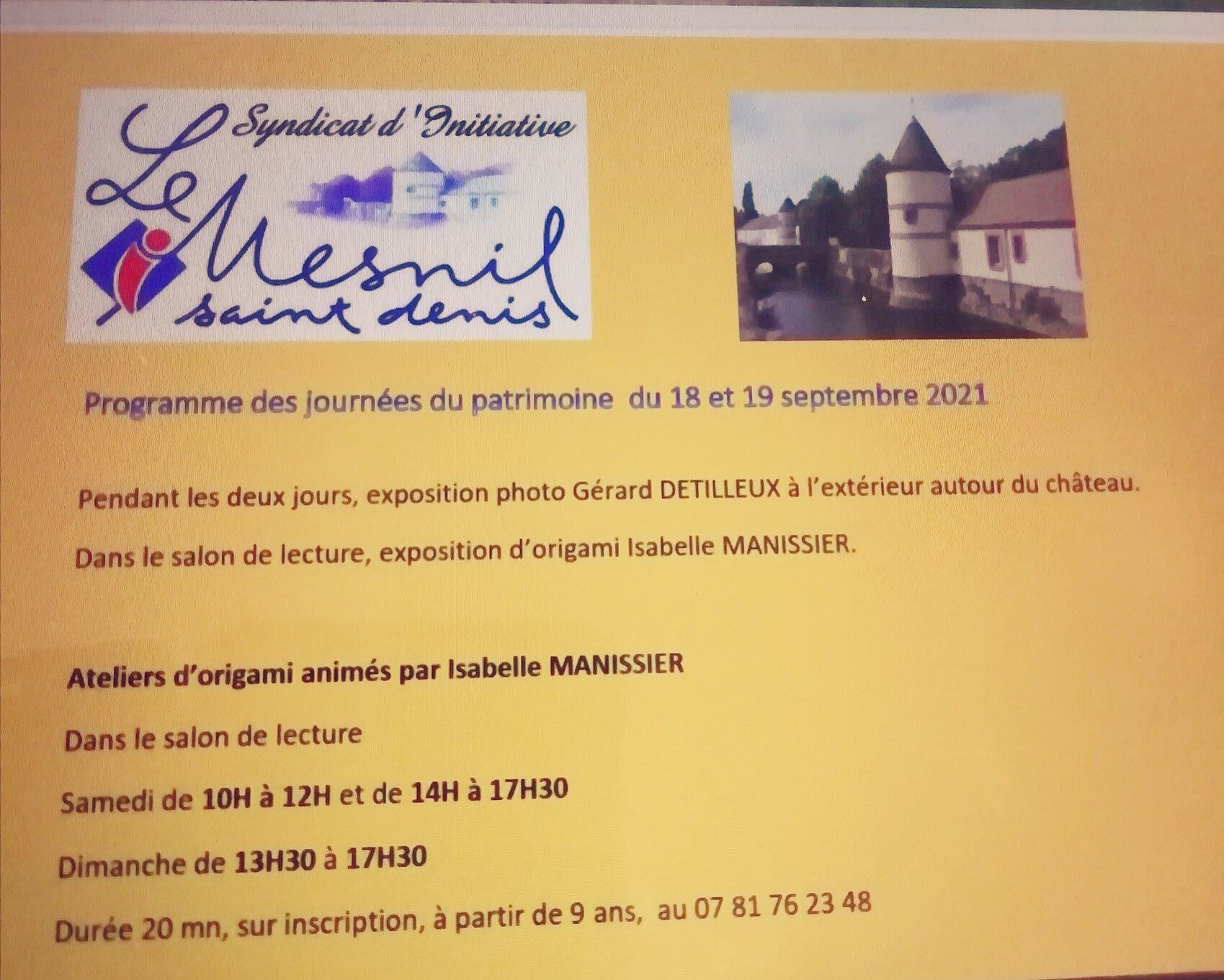 Journée du patrimoine