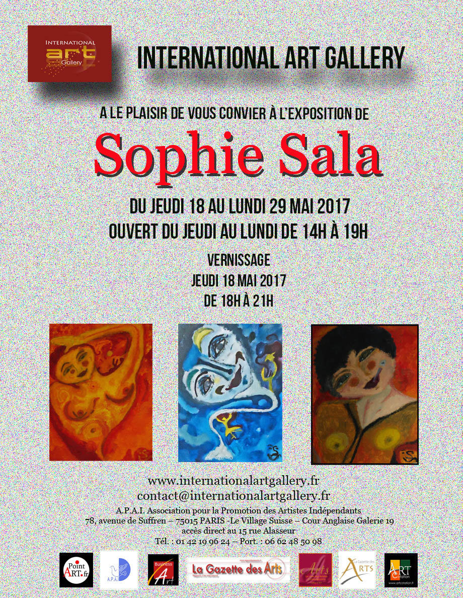 EXPO SOPHIE SALA - MAI 2017 - Paris