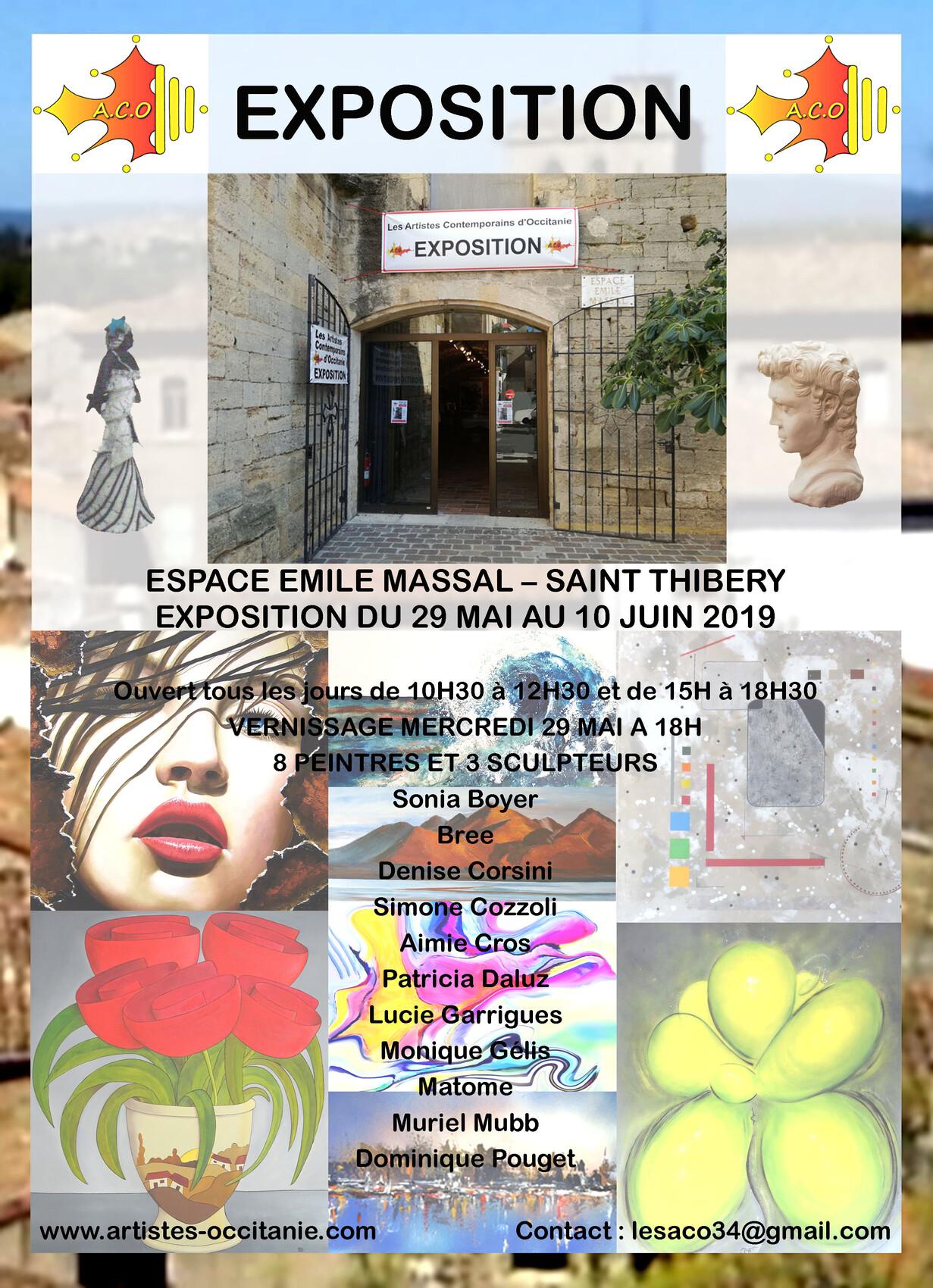 """Exposition """" Les Artistes Contemporains d'Occitanie """""""