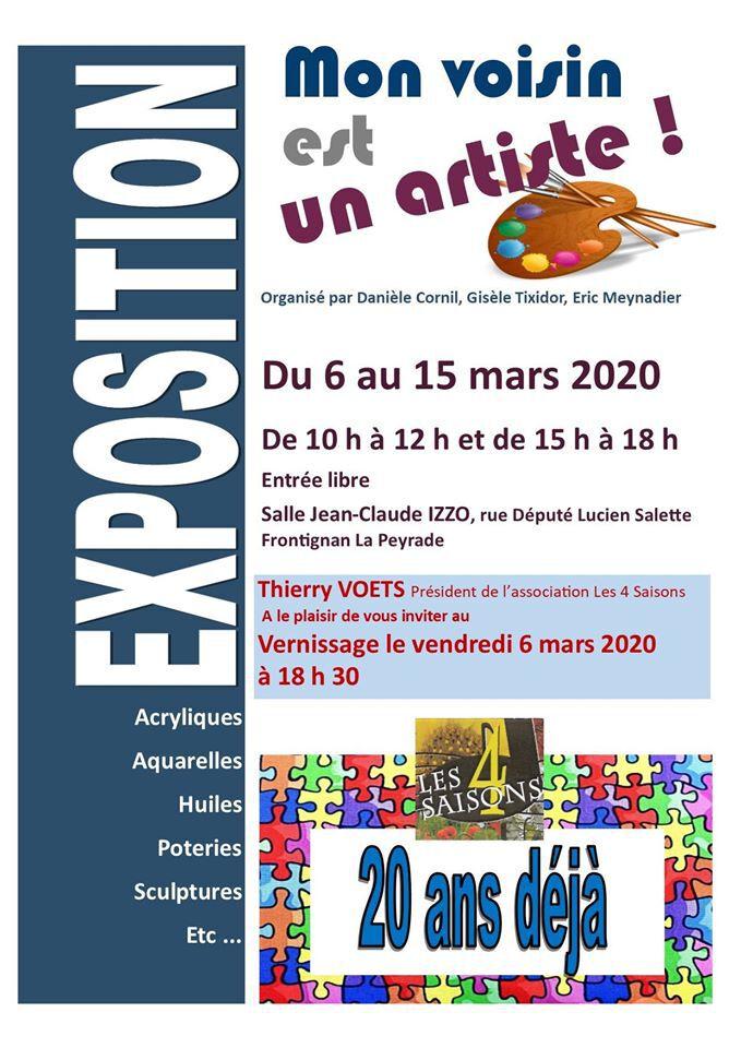 """Exposition collective - """" Mon voisin est un Artiste """""""