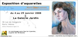 Exposition d'aquarelles de Marie-Line Laurent