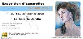 Exposition d'aquarelles de Marie-Line Laurent
