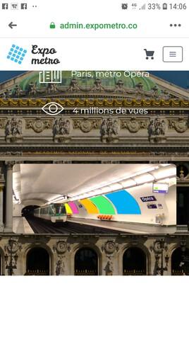Expo Metro Paris Opéra