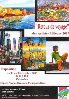 EXPOSITION  LES ARTISTES à  FLEURY 2017