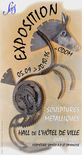 """Exposition  """" CDom Sculpture """" à SÉES"""