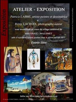 Patricia Labbe, artiste-peintre dessinatrice et Rémy Lacroix, photographe-auteur