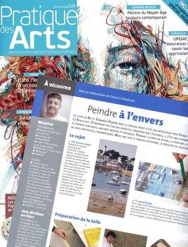 Pratique des Arts - Mai 2016 - n°128  Article consacré à ma technique.