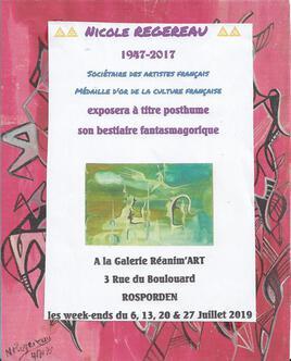 EXPOSITION A TITRE POSTHUME A LA GALERIE REANIM'ART