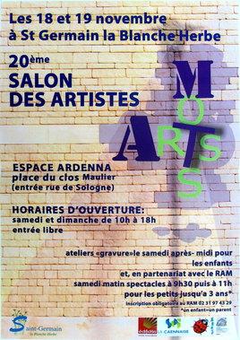 EXPOSITION  20ème  SALON DES ARTISTES à ST GERMAIN LA BLANCHE HERBE
