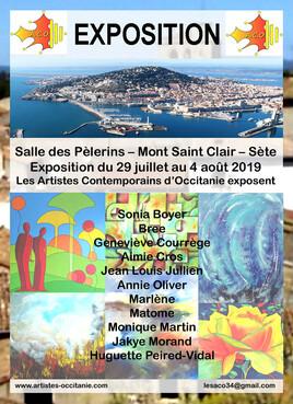 Exposition à la Salle des Pèlerins - Mont St Clair - Sète