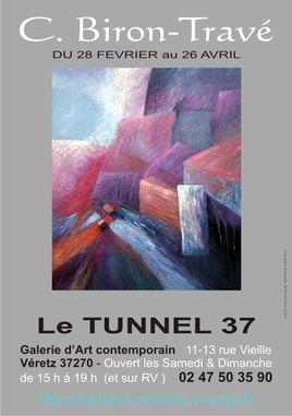 Exposition art contemporain tours - claudine biron-travé