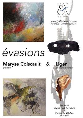 """""""Evasions"""". Exposition conjointe avec Maryse Coiscault (peinture)"""