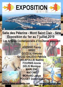 Exposition à la Salle des Pèlerins- Mont St Clair - Sète