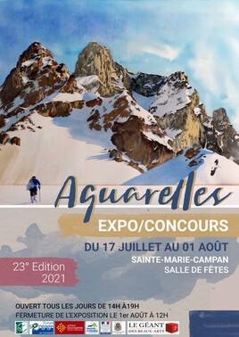 Exposition - concours d'aquarelles de Sainte Marie de Campan