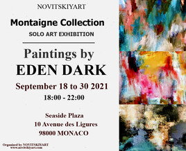 EXPOSITION EDEN DARK A MONACO DU 18/09/21 AU 30/09/21