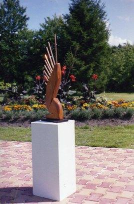Sculptures dans un jardin mai:juillet 2017