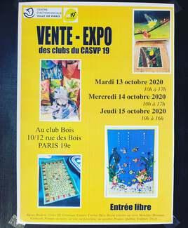 Exposition 13 / 14 / 15 Octobre Paris 19ème