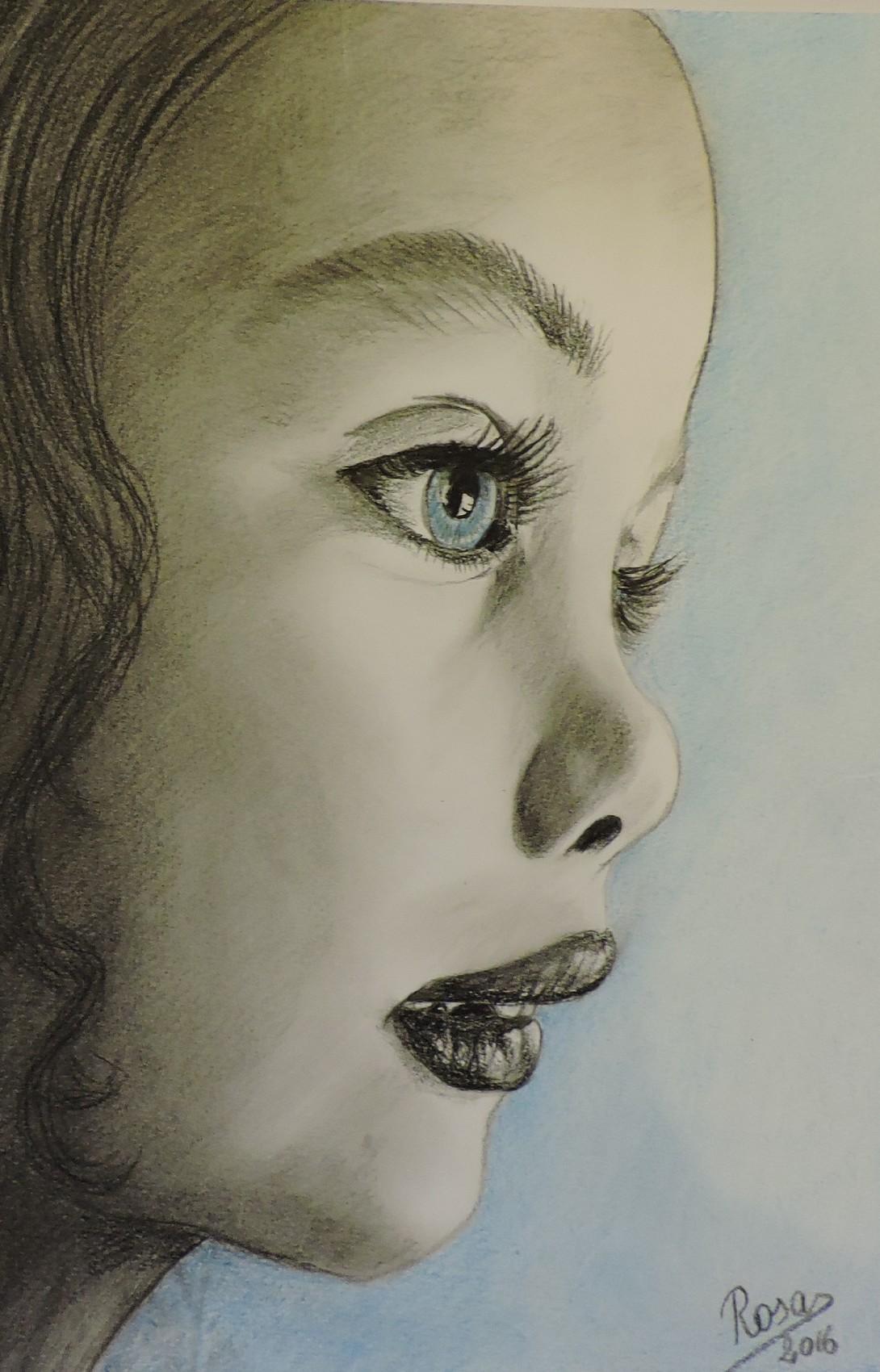 La fille aux yeux bleus