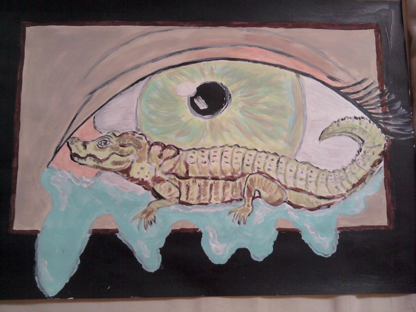 Peinture les larmes de crocodiles for Peinture crocodile