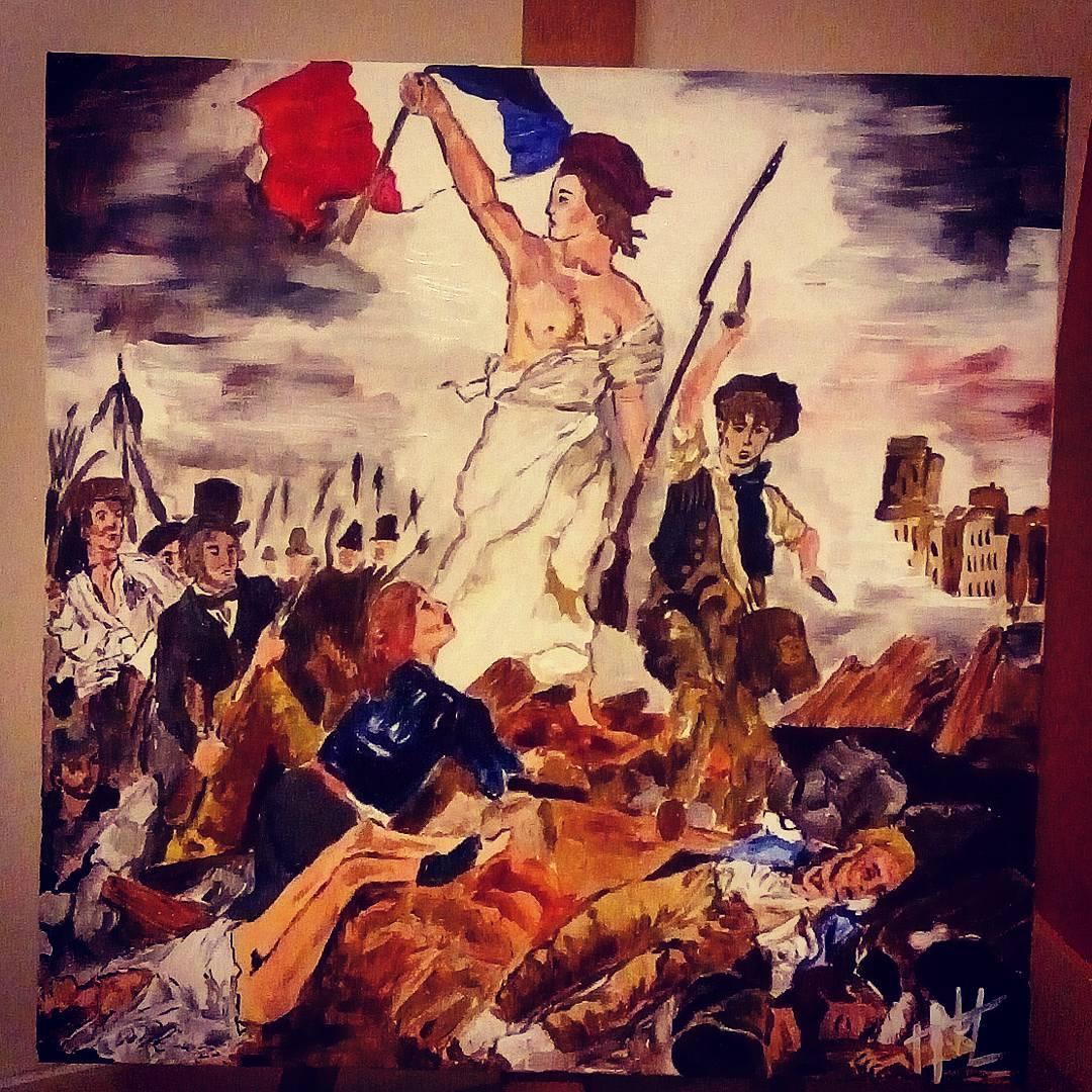 Peinture La liberté guidant le peuple