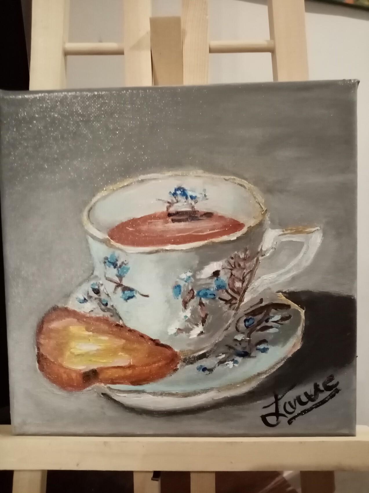 VENDUE Peinture 20 cm x 20 cm
