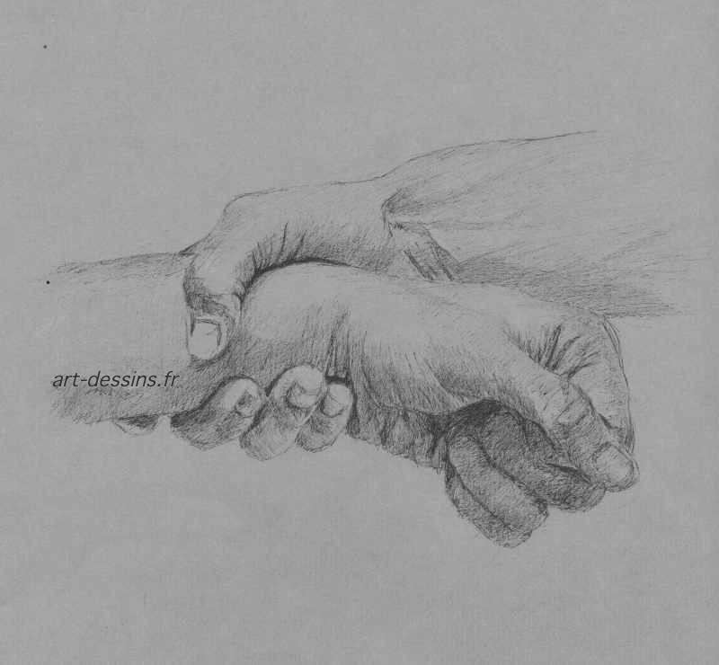Dessin mains dessin au stylo - Dessin de mains ...