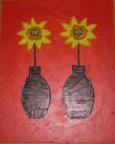 Vases et fleurs coupées