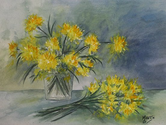 Peinture Bouquet Jonquilles