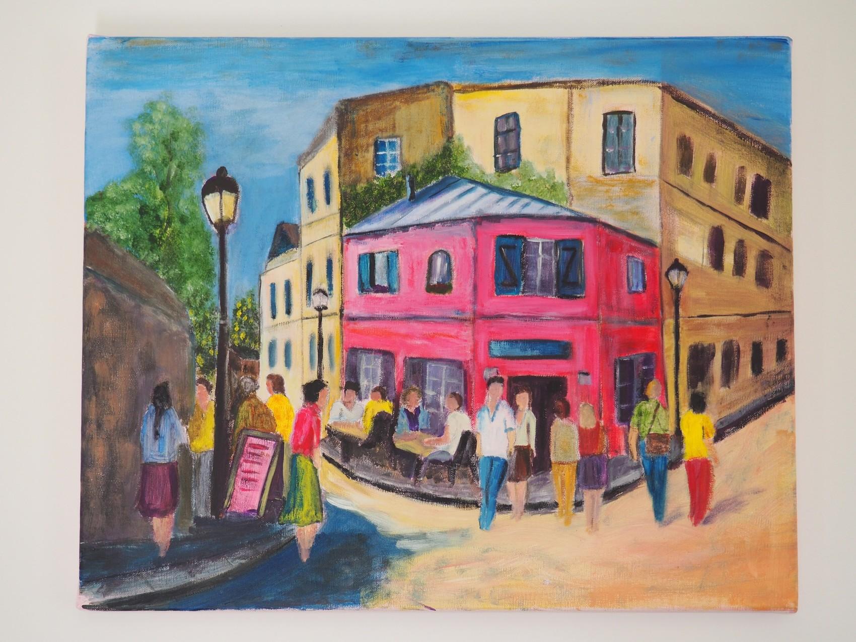 La maison rose (d'après Utrillo)
