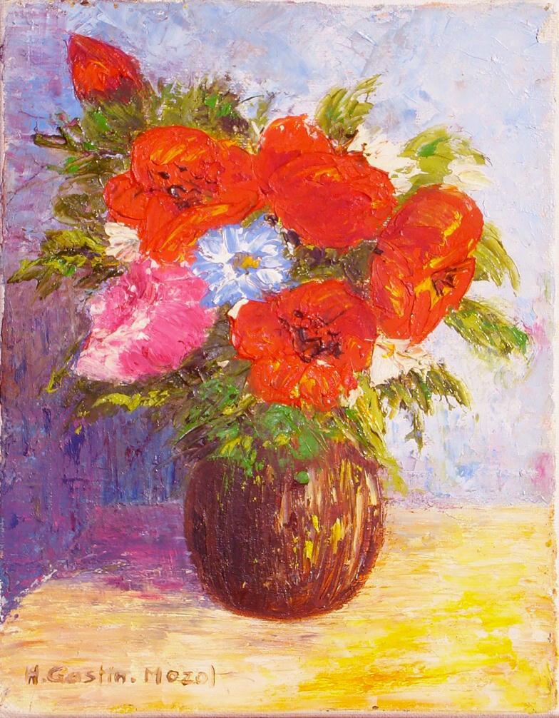 Coquelicots en bouquet