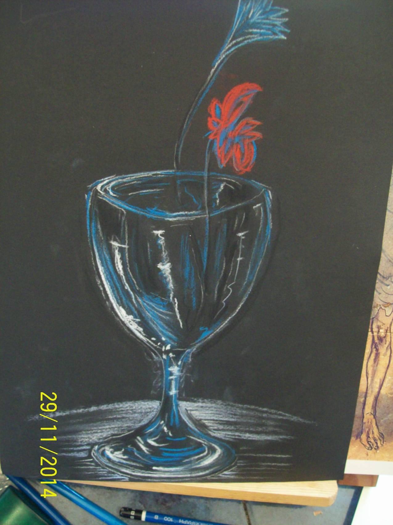peinture reproduction d 39 oeuvre de picasso le verre bleu. Black Bedroom Furniture Sets. Home Design Ideas
