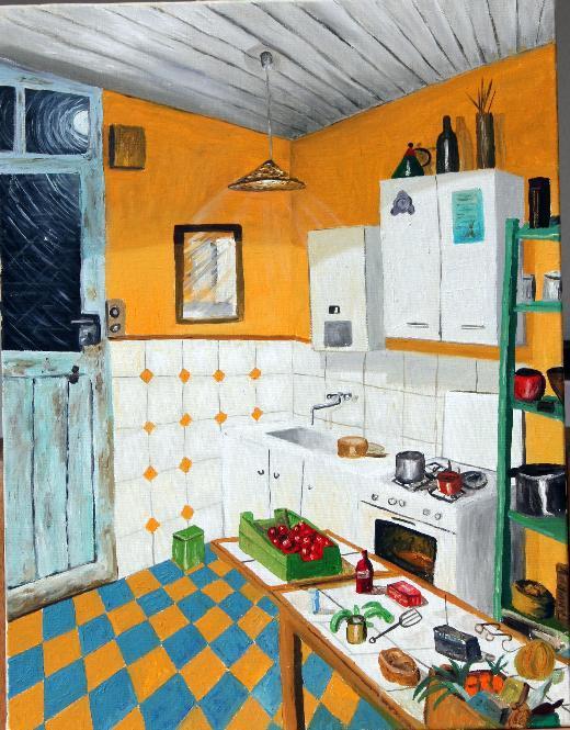 Peinture la cuisine de marie paule for La cuisine c est marie