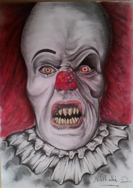 Dessin Clown Maléfique