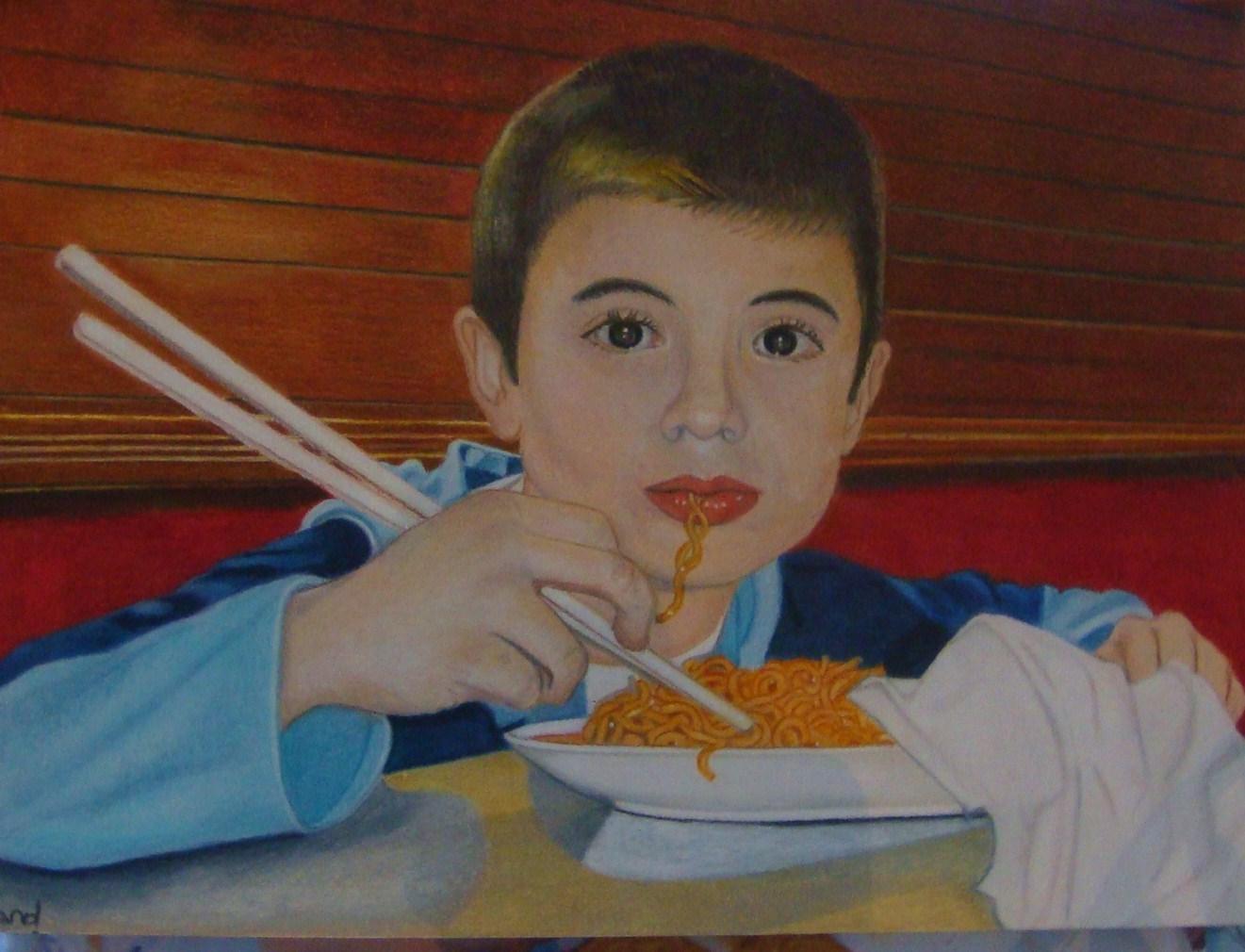 degustation de nouilles chinoises