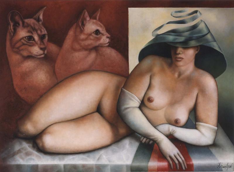 Femme aux chats