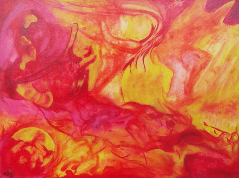 Peinture Couleur chaude
