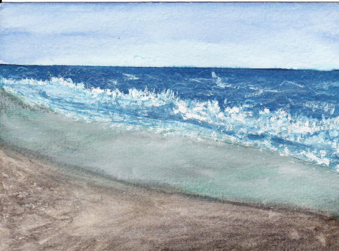 Peinture bord de mer for Papier peint bord de mer