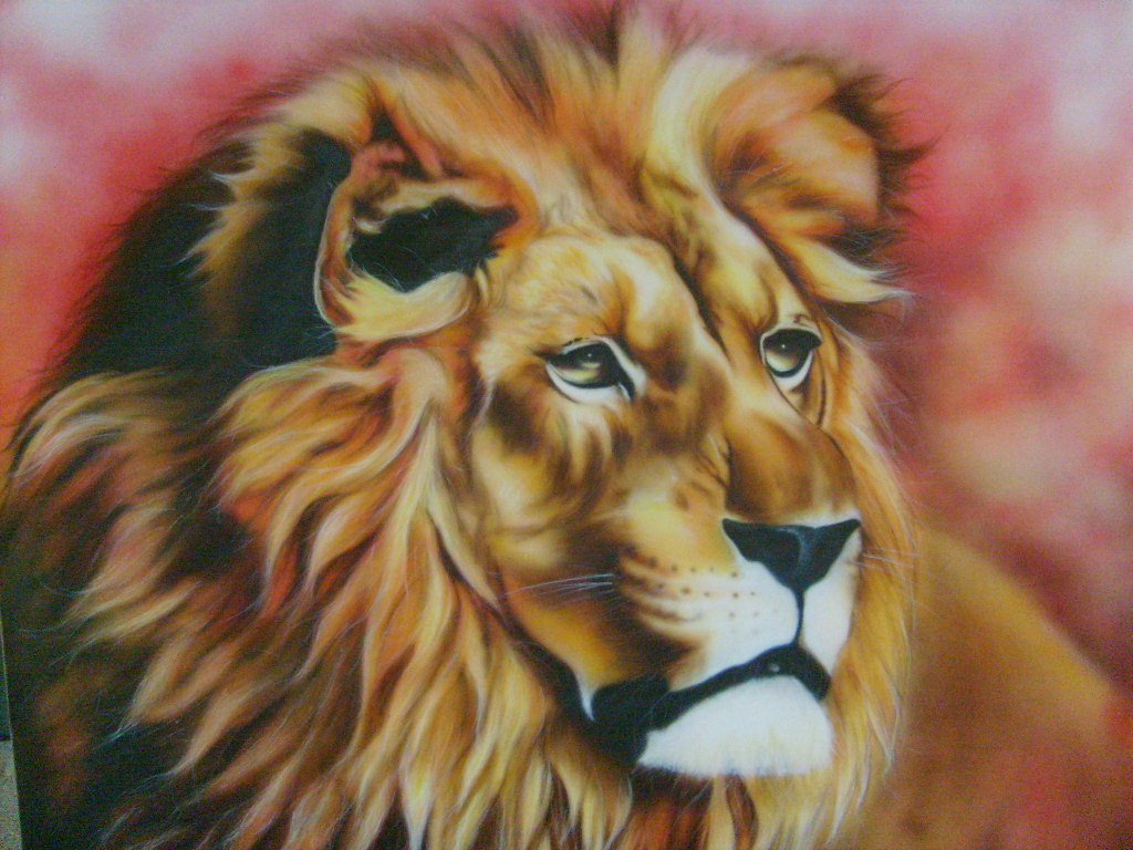 oeuvre aerographie lion