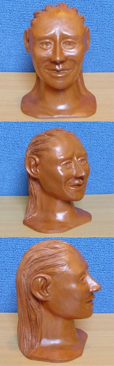 Sculpture en argile, vernis a la gomme-laque ( sculpture numéro 4 )