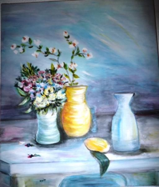 bouquet de fleurs sur table